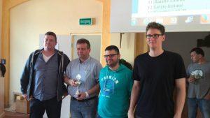 Holger Lehmann (Br.2), Andreas Nöring (Br.4), Simon Hiller (Br.1), Daniel Böhlich (Br.3)