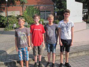 von links: Schween, Deleré, Ortmeier und Bilecen
